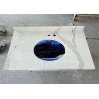 Calacatta Quartz Stone Prefab Bathroom Vanity Tops For Home Building Manufactures