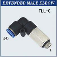 Buy cheap Thread M3, M5 Extended Male Plastic Pneumatic Fitting With G Thread from wholesalers