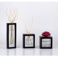 China 100ml Square Fragrance Rattan Glass Reed Diffuser with Sola Flower TS-GRD06 on sale