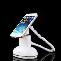 Quality COMER security desktop display magnetic cell phone stand with alarm sensor and charging cables for sale