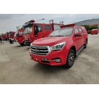 China 300L Fixed Water Tank Pickup Fire Truck Water Mist System 30m Hose Reel on sale