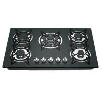 China black color tempered glass built-in gas stove on sale
