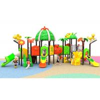 China Customized Kids Outdoor Playground , Toddlers Plastic Play Slides With Two Floor on sale