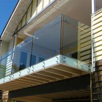 China Toughened laminated glass balustrade with stainless steel standoff design on sale