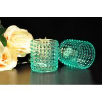 Color Sprayed Glass Tealight Candle Holders / Glass Candlestick Holders Manufactures