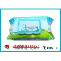 Thick Cotton Baby Wet Wipes , Fragrance Free Baby Wet Tissue With Non - Woven Fabric Manufactures
