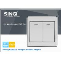Electrical Switch 2 Gang lighting Switch wall switches with LED light Manufactures