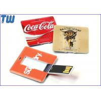 China Plastic Square Card Usb Flash Drives with Both Side High Quality Digital Printing on sale