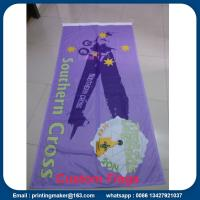 Custom 110 G Knitted Polyester Fabric Advertising Flags Manufactures