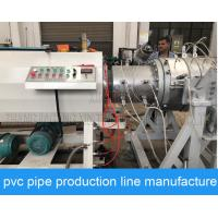 China Long Life Big PVC Pipe Production Line , Plastic Water Pipe Making Machine on sale