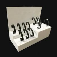 China Acrylic Countertop Watch Display Stand Made of 3mm White Acrylic on sale