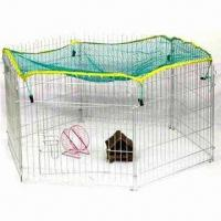 Playpen with Cloth Cover, Made of Epoxy-coated Heavy Gauge Wire, Easy to Clean and Assemble Manufactures