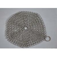 Custom Pan Stainless Steel Chainmail Scrubber 10mm Outside Diameter , Eco Friendly Manufactures