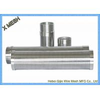 V Wire Stainless Steel Screen Roll Wedge Sand Johnson Water Well Screen Manufactures