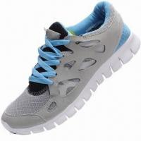 China Air Max Sole Running/Sports Shoe with Real Leather + Mesh Upper, Breathable and Lightweight on sale