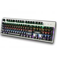 Wired RGB mechanical gaming keyboard for Desktop , Laptop with CE / ROHS / FCC Manufactures