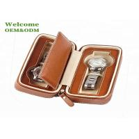 Handmade Watch Packing Box Classic with Brown Zip Leather  Travel Cases Manufactures