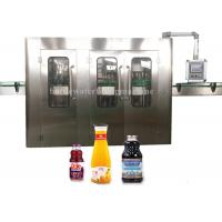 3 In 1 Glass Bottle Filling Machine And Twist Capping Machine Fruit Juice Production Manufactures