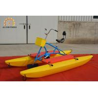 Durable Water Bike Pedal Boats 3.16 * 1.43 * 1.28 M PE Plastic Material Manufactures