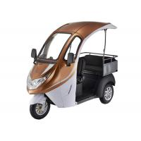 Smart Digital LED Display Electric Tricycle Passenger , 1200W Brushless Motor Enclosed Bicycle Car Manufactures