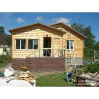 Steel Structure Modern Wooden Log Houses , High Insulation Prefabricated Bungalow Homes Manufactures