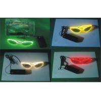 Party Holidays Decorative EL Wire Led Flashing Sunglasses With DC3V Inverter Manufactures