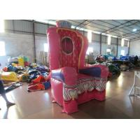 Pink Inflatable Airtight princess the chair on sale sealed inflatable decoration Manufactures