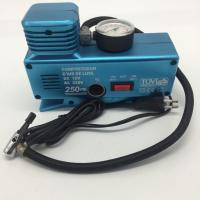 AC110 - 230V and DC12V Plastic Vehicle Air Compressors with Gauge , Car Air Compressor Manufactures