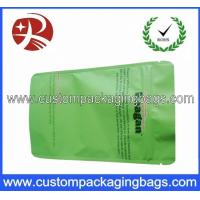 Green PET / AL / PE Aluminium Foil Ziplock Coffee Bag Packaging with Stand up Manufactures