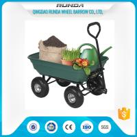75 Liters Wheeled Garden Mesh Cart , 4 Wheel Garden Trolley Robust Tray TC2135 Manufactures