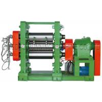 75kw Driving Motor 450 Three Roll Calender / Rubber Sheet Machine High Efficiency Manufactures