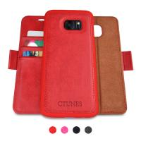 China Stylish Leather Cell Phone Cover / Mobile Phone Leather Case For Galaxy S7 Edge on sale
