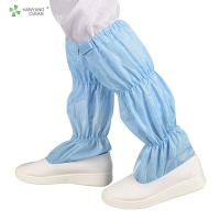 Unisex Cleanroom Anti Static Booties Breathable For Electronic Industry Manufactures