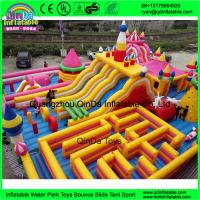 Quality Funny inflatable Circus amusement park,Giant inflatable clown fun city,Inflatable bouncer castle with slides for sale