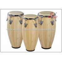 Percussion Musical Conga Drum Instrument With True Skin Cow Heads Chrome Plated Hardware Manufactures
