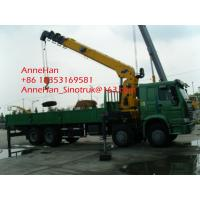 Mobile Low Bed Truck Mounted Straight Arm Crane 8x4 With 15 Ton , Swing Arm Crane