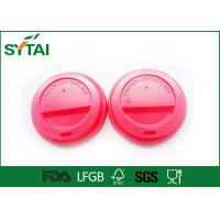 China No Smell Eco friendly Paper Coffee Cups Lids For Hot Dirnk , Customized Lids on sale