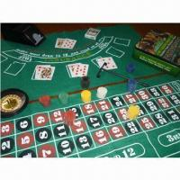 China 4-in-1 Casino Game Set with Roulette, Craps, Poker and Blackjack on sale