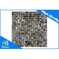 "Polished Square Brown Dark Emperador Mosaic Marble Wall Tile Meshed on 12"" x 12"" Manufactures"