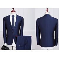 China Anti Shrink Cool Mens Wedding Suits , Breathable Mens Navy Wedding Suits on sale