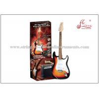 648mm Scale length Hard wood Music Electric Guitar / Sunburst Electric Guitar Set ST Style Manufactures