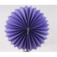 Purple Paper Luxury Paper Accordion Lanterns / Balls With Round Shaped Manufactures