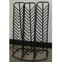 Custom Durable Retail Tile Display Racks Stands , Metal Staggered Manufactures