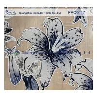 Lily pattern Burned out Lace Fabric Polyester&Cotton light and comfortable  for garment Manufactures