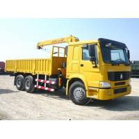 China HOWO Cargo Truck With Loading Crane(Front-Mounted) on sale