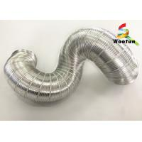 Quality Air Conditioner Aluminum Air Duct Semi Rigid Hose Fire Resistant For HVAC System for sale