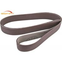Wood Stock Custom Sanding Belts 60 Grit , 2 X 72 Ceramic Grinding Belts For Auto Bodywork Manufactures