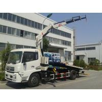 5 ton car carrier flatbed wrecker recovery tow truck with crane Manufactures
