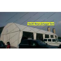 Light Weight Cover Polygon Tent 15m x 20m White PVC Roof Mesh Window Manufactures