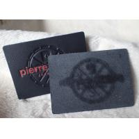 China Classic Durable Embossed Leather Patches , Fake / Genuine Leather Label on sale